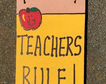 Teacher Gifts Wooden Pencils 28tr Teacher's Rule