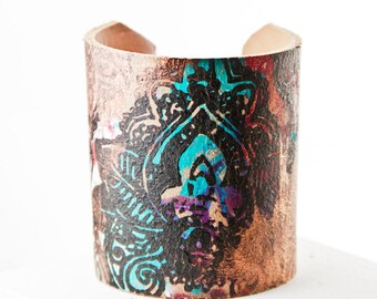Leather Bracelet, Leather Wristband, Leather Jewelry, Leather Cuff, Wrist Tattoo Cover
