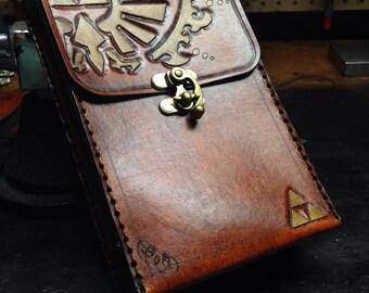 Leather Zelda Triforce 3DS pouch