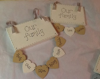 Family plaques
