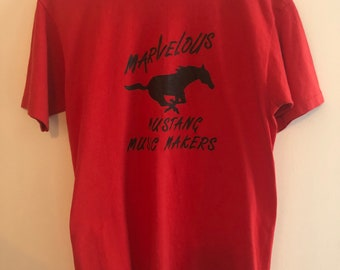 Vintage 1980's Marvelous Mustang Music Makers T-shirt