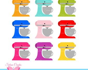 Kitchen Mixer Digital Clipart, Clip Art, Stand Mixer, Kitchen, Baker, Bakery, Chef, Cook, Vector, PNG Format