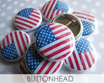 10 drapeau américain Pins - Memorial Day drapeau Pins - en vrac en gros macarons