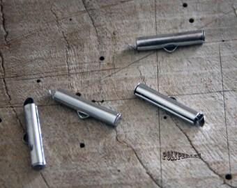 1 tip primer tube hanger silver Tube cord bracelet clasp