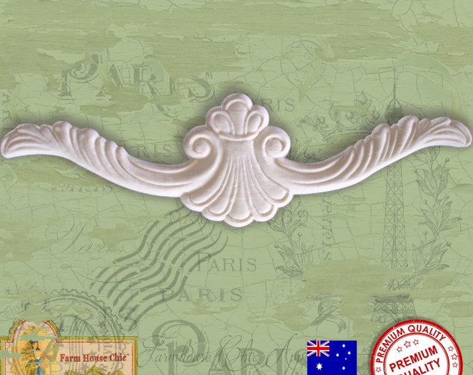 Shabby French Chic Furniture Moulding, Crown, Furniture Applique, Furniture Carving, Furniture Decoration. Made in Australia