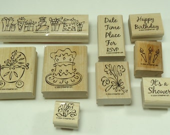 Something To Celebrate Wood Mounted Rubber Stamp Set From Stampin Up