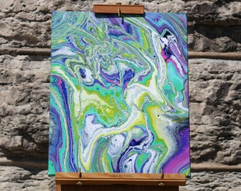Abstract Acrylic Flow Painting - Tripped