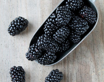 Blackberry Food Photography- Printable Instant Digital Download - Kitchen Decor/Wall Art