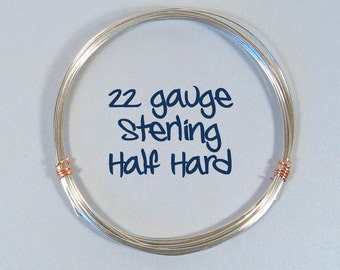 Sterling Silver Wire - 22ga HH - Choose Your Length