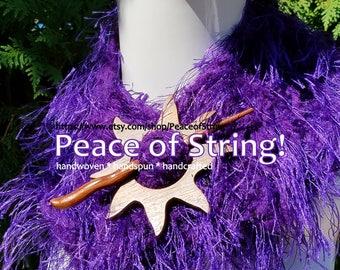 Artsy Purple Scarf or Boa- Long & Super Soft,