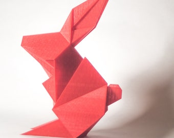 Origami/Easter Bunny/Bunny/Rabbit print/Easter decorations/Easter Gifts/Rabbit lover gift/easter design/3d printed gifts/Oribunny