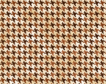 Quilting Treasures, Nature's Glory Houndstooth, Brown