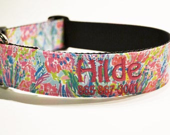"""Personalized Dog Collar / Dog Collars / Wide / Pets / Dogs / Made to Order / 1.5"""" Wide"""
