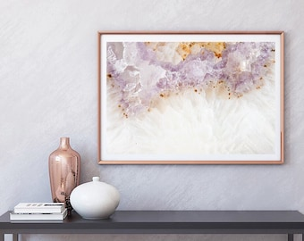 Mineral Photography - (Print #112)  Amethyst   - Mineral / Geode / Agate / Crystal Decor - Bohemian Home