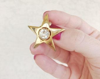 Vintage Star Rhinestone 60's Earrings