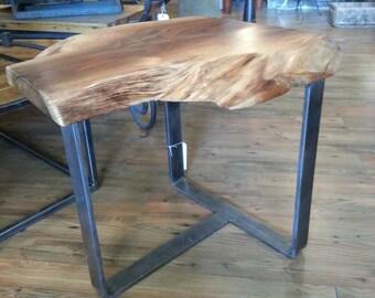 Live edge walnut end table