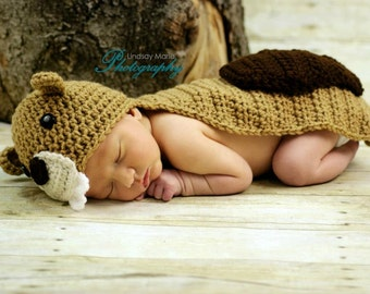 PATTERN Beaver Photo Prop - Crochet