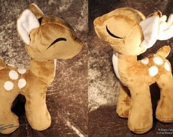 Custom Minky Kawaii Deer ( Doe or Buck ) Plushies - Decoration for Christmas, forest scenes, window displays, Spring , POS