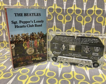 Sgt. Pepper's Lonely Hearts Club Band by The Beatles Cassette Tape rock