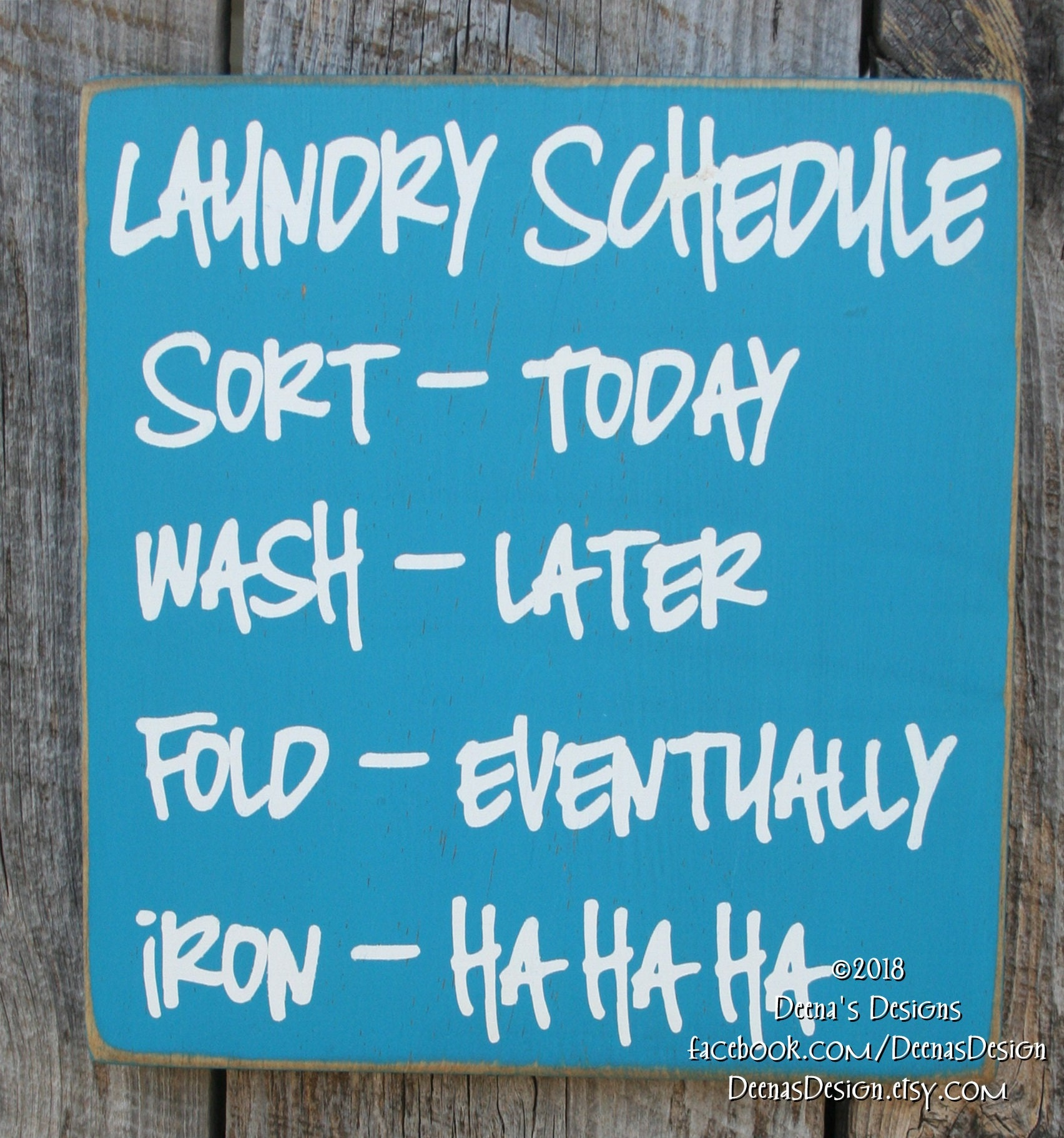 Laundry Schedule, Laundry Room Decor, Laundry Room Sign, Custom Wood Sign, Laundry Room, Laundry Room Schedule, Laundry Humor - Iron HaHaHa