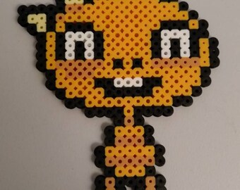 Undertale Monster kid perler bead pixel art sprite