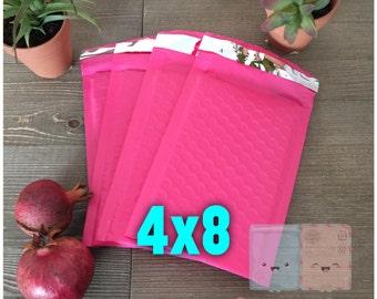 30-50 pcs Pink 4x8 Bubble Mailers