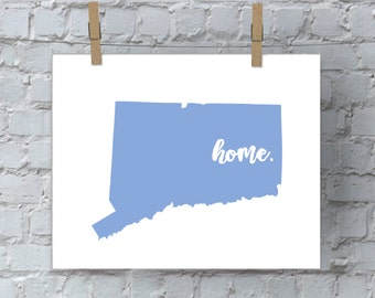 Connecticut Wall Art, Printable Wall Art, Wall Decor, Wall Hanging, Art, Digital Download, Instant Download, Digital Print, Connecticut Sign