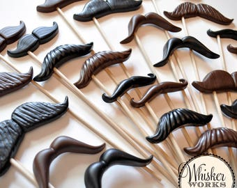 PLASTIC Photo Booth Props - Wholesale Mustaches on Sticks - Set of 20