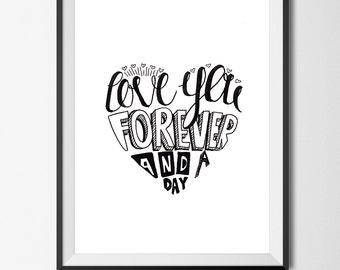 Love Valentines art print