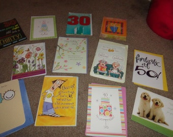 Lot of 12 birthday cards all new with envelopes-
