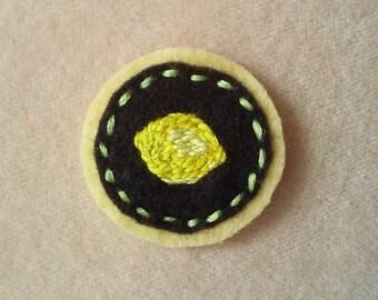 Lemon Badge (Patch, Pin, Brooch, or Magnet)