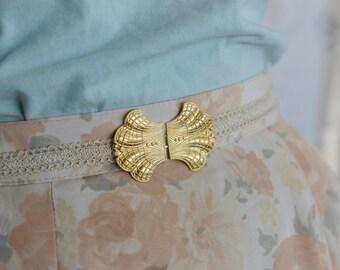 Bridal Waist Belt, Gold Buckle, Ivory Belt,  Wedding Dress Belt, lace belt, Stretch Belt, Skinny Belt, Wedding Gown Belt, Dainty Belt