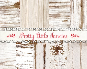 Digital Shabby Chic Wood Backgrounds 12x12 Scrapbook Paper Pack