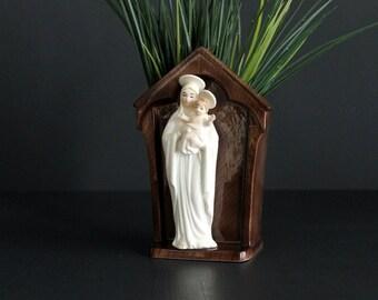 Vintage Virgin Mary and Jesus Planter Mid Century Home or Nursery Decor