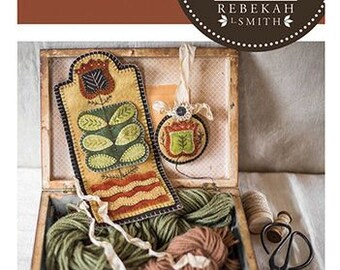 NEW!! Sewing Roll Set - Wool Applique pattern by Rebekah Smith