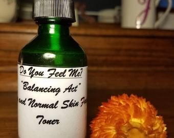 """Facial Toner """"Balancing Act"""". Dry and normal skin. Homemade and all natural."""