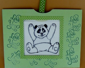 Magic Slider Card, Bear Slider Card, Interactive Card, Panda Bear Card, Kid's Card