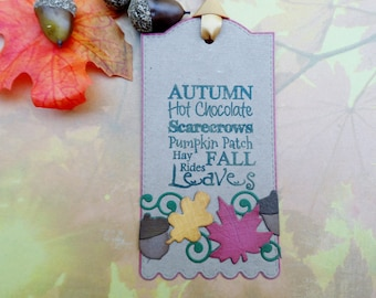Autumn Subway Tag, Fall Tag, Gift Tag, Treat Tag, Thanksgiving Tag