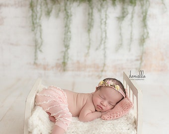 Pink Pillow and Tie-Back, Photography Prop, Newborn Baby, Photo Session, Newborn Prop