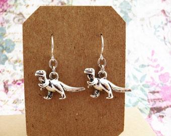 Velociraptor Earrings, Dinosaur Earrings, Dinosaur Jewellery, T Rex Earrings, Raptor Charm, Little Earrings, T Rex Jewelry, Dinosaur Gift
