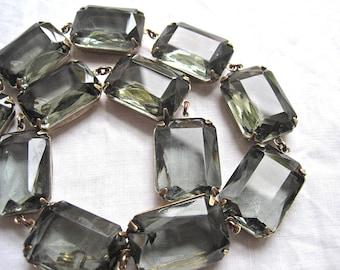 Slate Grey statement Necklace, gray statement necklace, collet necklace, Anna Wintour necklace, sacred cake, gemstone necklace.