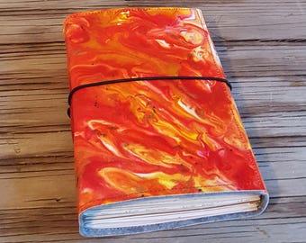 Art Journal a creative expression art journal - gift for wanderlust artist - hand painted - tremundo