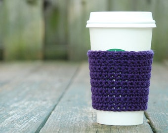 Crochet Coffee Sleeve - Tea Lover Gifts - Coffee Cup Sleeve - Reusable Cup Sleeve - To Go Cup Sleeve - Eco Friendly Gift - Coffee Lover Gift