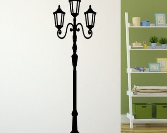 Lamp Post Decal | Light Post Decal | Vinyl Wall Decal | Gas Light Post | 22115