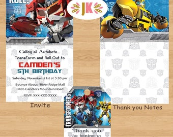 TRANSFORMERS Printed Invitations and more