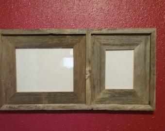 1-8x10 1-5x7 Barn Wood Collage Frame
