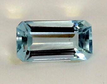 Aquamarine rectangular cut 2.43 cts