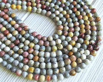 Sky eye Jasper, 6mm beads, full strand, Jasper beads, multicolor Jasper beads, A quality beads, brown jasper beads, blue jasper