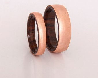copper ring woman man wedding ring copper wedding band copper ring wood ring man copper wedding band jewelry