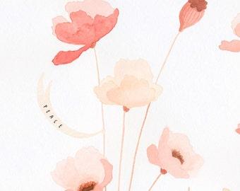 Poppy Wedding Memory Tree, CUSTOMIZABLE - 13 X 19